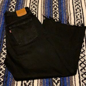 Levi's mile high cropped wide leg jean.